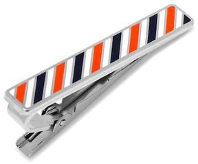Cufflinks Inc. Varsity Stripes Navy, Orange, and White Tie Clip