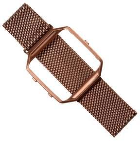 Fitbit AGPtek APGtek Watch Band Stainless Steel Bracelet Strap Metal Frame Holder for Blaze Rose Gold