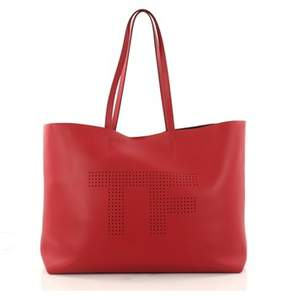 Tom Ford Pre-owned: Logo Tote Perforated Leather Large.