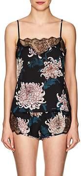 Fleur Du Mal Women's Rose Lace Floral Silk Camisole