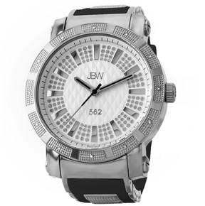 JBW 562 Silver Crystal Dial Diamond Bezel Silver-tone Stainless Steel Men's Watch