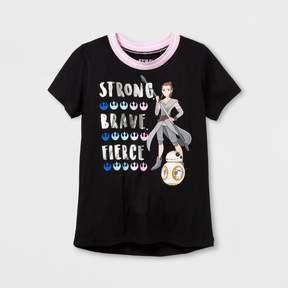 Star Wars Girls' Forces Of Destiny Ringer T-Shirt - Black