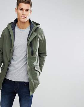 Benetton Two In One Parka With Removable Padded Vest In Khaki