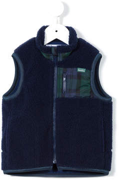 Familiar plaid panel gilet