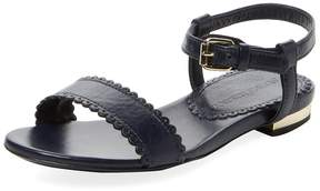 Burberry Low Heel Sandal with Buckle Closure