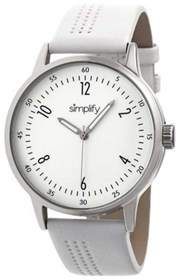 Simplify Unisex The 5700 Leather Band Watch.