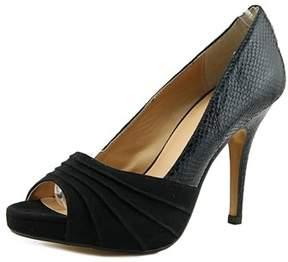 Thalia Sodi Marissa Women Peep-toe Canvas Black Heels.