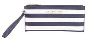 Michael Kors Striped Leather Wristlet - BLUE - STYLE
