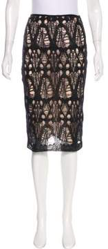Alessandro Dell'Acqua Distressed Knit Knee-Length Skirt