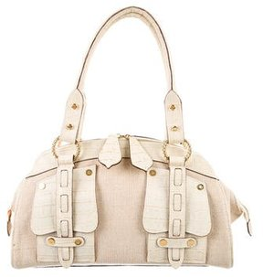 Roberto Cavalli Canvas Shoulder Bag