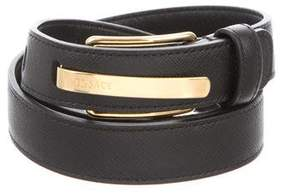 Versace Logo Leather Belt
