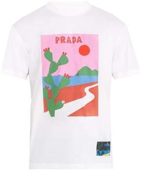 Prada Cactus-print cotton T-shirt
