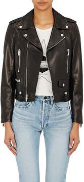 Saint Laurent Women's Lambskin Classic Moto Jacket