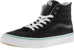 Vans Sk8-Hi Slim Zip Iridescent Eyelets Black High-Top Canvas Skateboarding Shoe - 9M / 7.5M