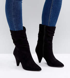 New Look Wide Fit Slouch Cone Heeled Boot