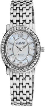 August Steiner Silver-tone Metal Diamond Ladies Watch