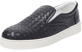 Bottega Veneta Men's Leather Low Top Sneaker