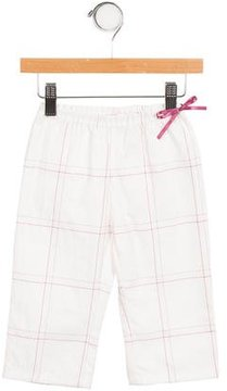 Petit Bateau Girls' Checkered Wide-Leg Pants w/ Tags