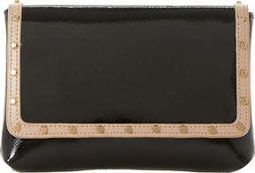 Dune Borriss patent studded clutch bag