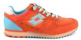 Lotto Leggenda Women's Orange Fabric Sneakers.