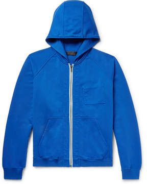 Haider Ackermann Loopback Cotton-Jersey Zip-Up Hoodie