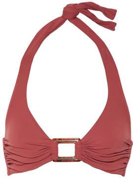Melissa Odabash Paris D-g Embellished Halterneck Bikini Top - Brick