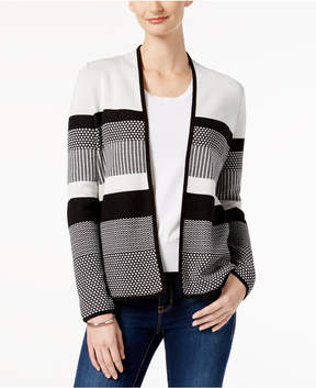 Charter Club Cotton Striped Cardigan, Created for Macy's