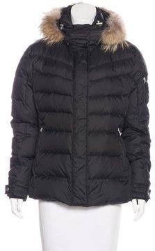 Bogner Raccoon Fur-Trimmed Down Coat