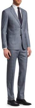 Giorgio Armani Plaid Modern Fit Wool Suit