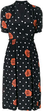 Diesel rose polka dot wrap dress