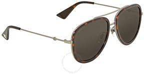 Gucci Grey Aviator Sunglasses