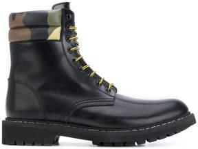 Givenchy camouflage detail army boots