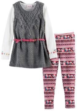 Little Lass Girls 4-6x Sparkle Sweater Vest