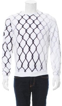 Carven Fence Print Crew Neck Sweatshirt
