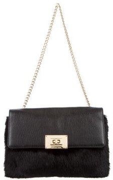 MICHAEL Michael Kors Fur Shoulder Bag - BLACK - STYLE