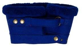 Balenciaga Shearling Wool Snood