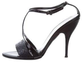 Narciso Rodriguez Python-Trimmed -Strap Sandals