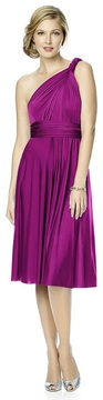 Dessy Collection MJ-TWIST1 Dress in Persian Plum