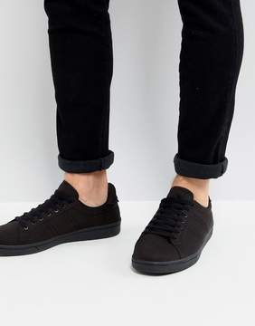 Fred Perry B721 Tricot Sneakers In Black