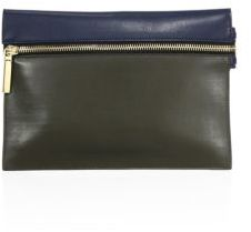 Victoria Beckham Small Leather Zip Pouch