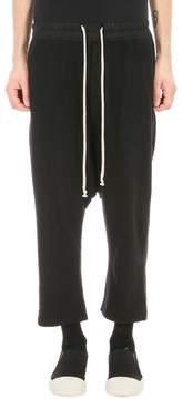 Drkshdw Drawstring Cropped Black Jersey Pants