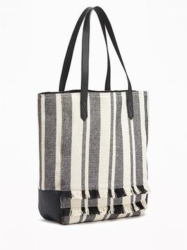 Striped Tall Tote for Women