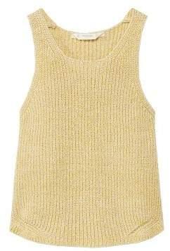 MANGO Cotton-blend knit top