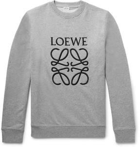 Loewe Embroidered Loopback Cotton-Jersey Sweatshirt