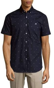 Report Collection Lightning Cotton Button-Down Shirt