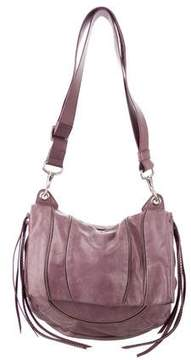Stuart Weitzman Zipper-Embellished Leather Hobo