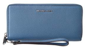 MICHAEL Michael Kors Mercer Leather Travel Continental Wallet. - BLUE - STYLE