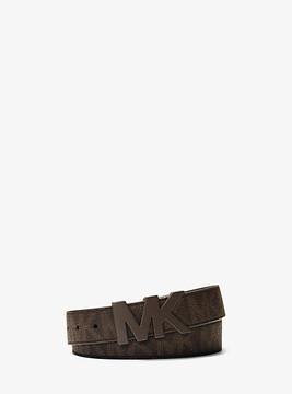 Michael Kors Logo Leather Belt