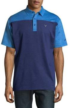 Callaway Opti-Dri Heathered Colorblock Short Sleeve Polo Golf Shirt