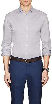 Isaia Men's Neat Cotton Jersey Shirt